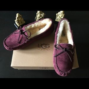 Ugg Dakota Suede Sheepskin Slipper Moccasins